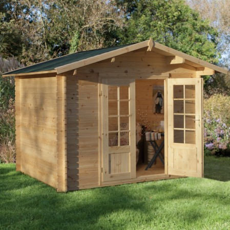 2.2m x 2.2m Windowless Log Cabin
