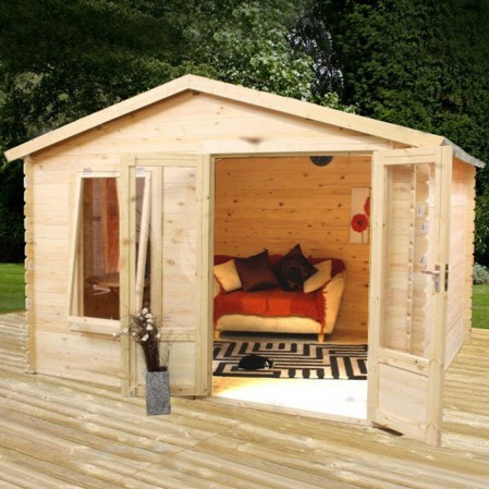 3.3m x 2.6m Studio Log Cabin
