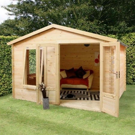 3.3m x 3m Studio Log Cabin