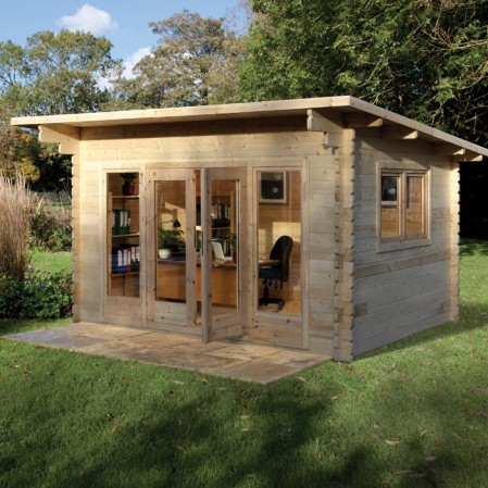 4m x 3m Contemporary Log Cabin