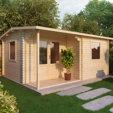 4m x 3m Executive Log Cabin