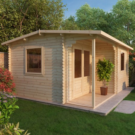 5.8m x 5m Executive Log Cabin