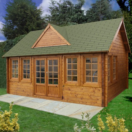 5.5m x 4m Log Cabin With Dormer Roof