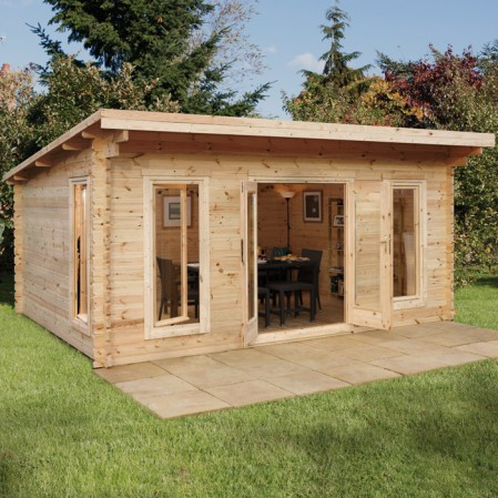 5m x 4m Contemporary Log Cabin